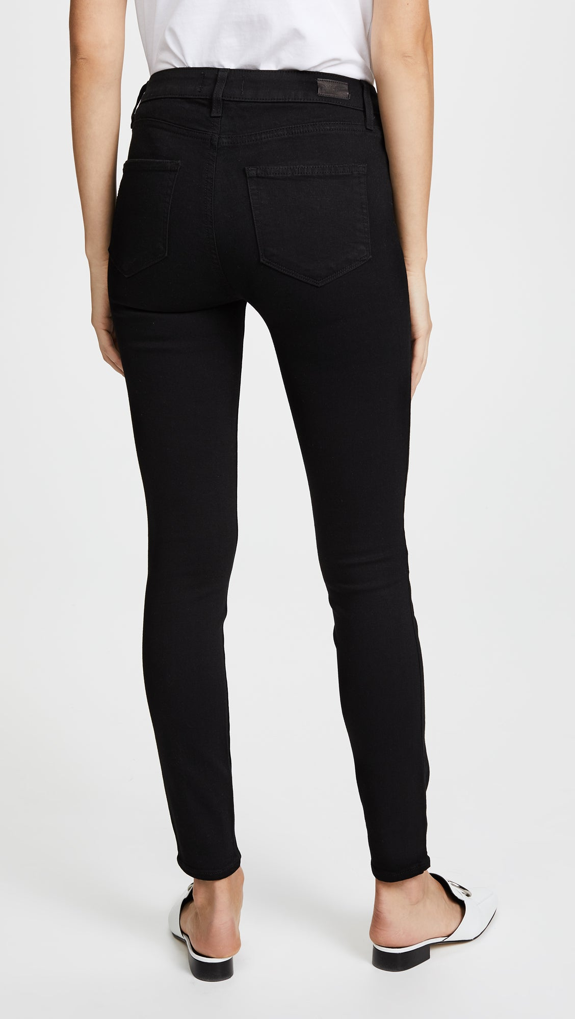 Paige Hoxton Ankle High-Rise Skinny in Black Shadow