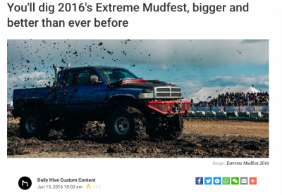 What's All The Buzz About? Extreme MudFest Featured in Calgary Daily Hive