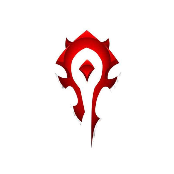 WOW Red World of Warcraft Tribal Flag Car Stickers and Decals Waterproof JDM Vinyl