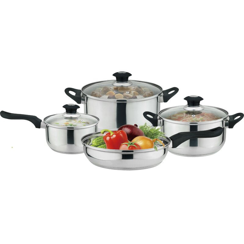 J&V TEXTILES 7-Piece Non-Stick Kitchen Cookware Set, Pots and Pans - Cookware - J&V Textiles Premiere Home Goods