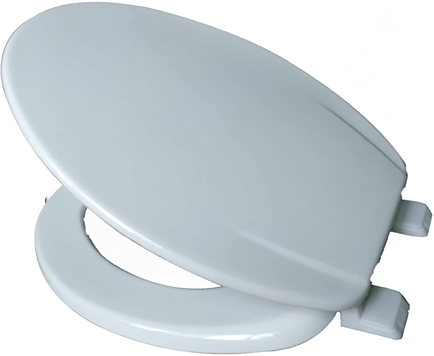 J&V Textiles Elongated Toilet Seat With Easy Clean & Change Hinge - J&V Textiles