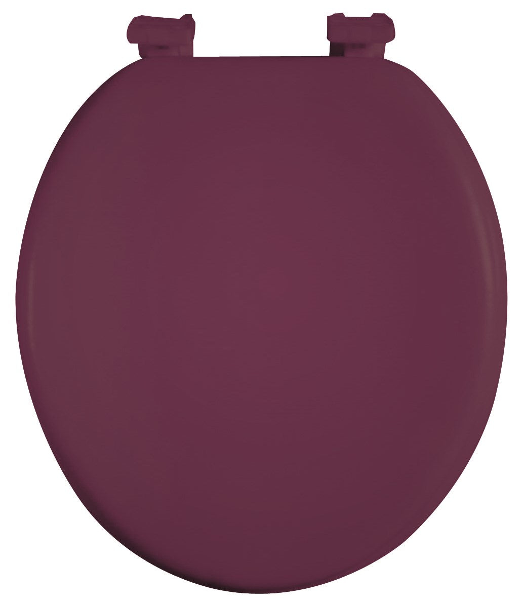 J&V Textiles Soft Round Toilet Seat With Easy Clean & Change Hinge, Padded (Burgundy) - Toilet Seats - J&V Textiles Premiere Home Goods