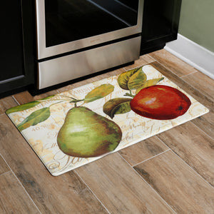"Oversized 20""x36"" Feel at Ease Anti-Fatigue Kitchen Mat (Green Pear) - Kitchen Mats - J&V Textiles Premiere Home Goods"