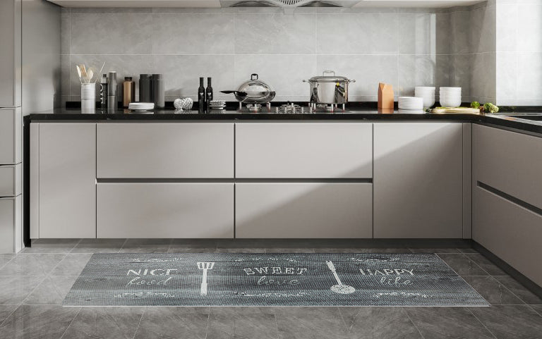 "20""x55"" Oversized Cushioned Anti-Fatigue Kitchen Runner Mat (Eat Laugh Live)"