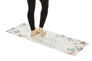 "20"" x 55"" Chic Anti-Fatigue Memory Foam Kitchen Runner Mat (Faith Family Friends) - J&V Textiles"