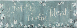"20"" x 55"" Chic Anti-Fatigue Memory Foam Kitchen Runner Mat (Grateful Thankful Bless) - Kitchen Mats - J&V Textiles Premiere Home Goods"