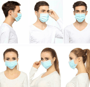 100PC Disposable Face Mask - Coronavirus, Medical, Surgical, Antiviral Face Coverings Masks
