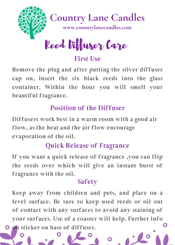 Reed Diffuser Care
