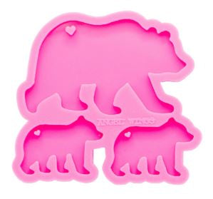Bear Family Keychain - Silicone Mold