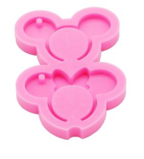 Mickey -n- Minnie Mouse Keychain - Silicone Mold