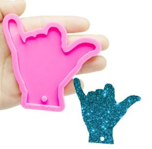 Rock On keychain - Silicone Mold