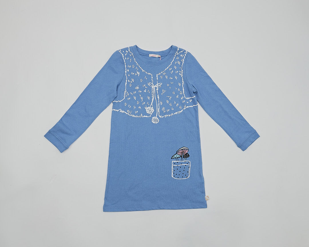 Billieblush Light Blue Printed Cotton Tunic