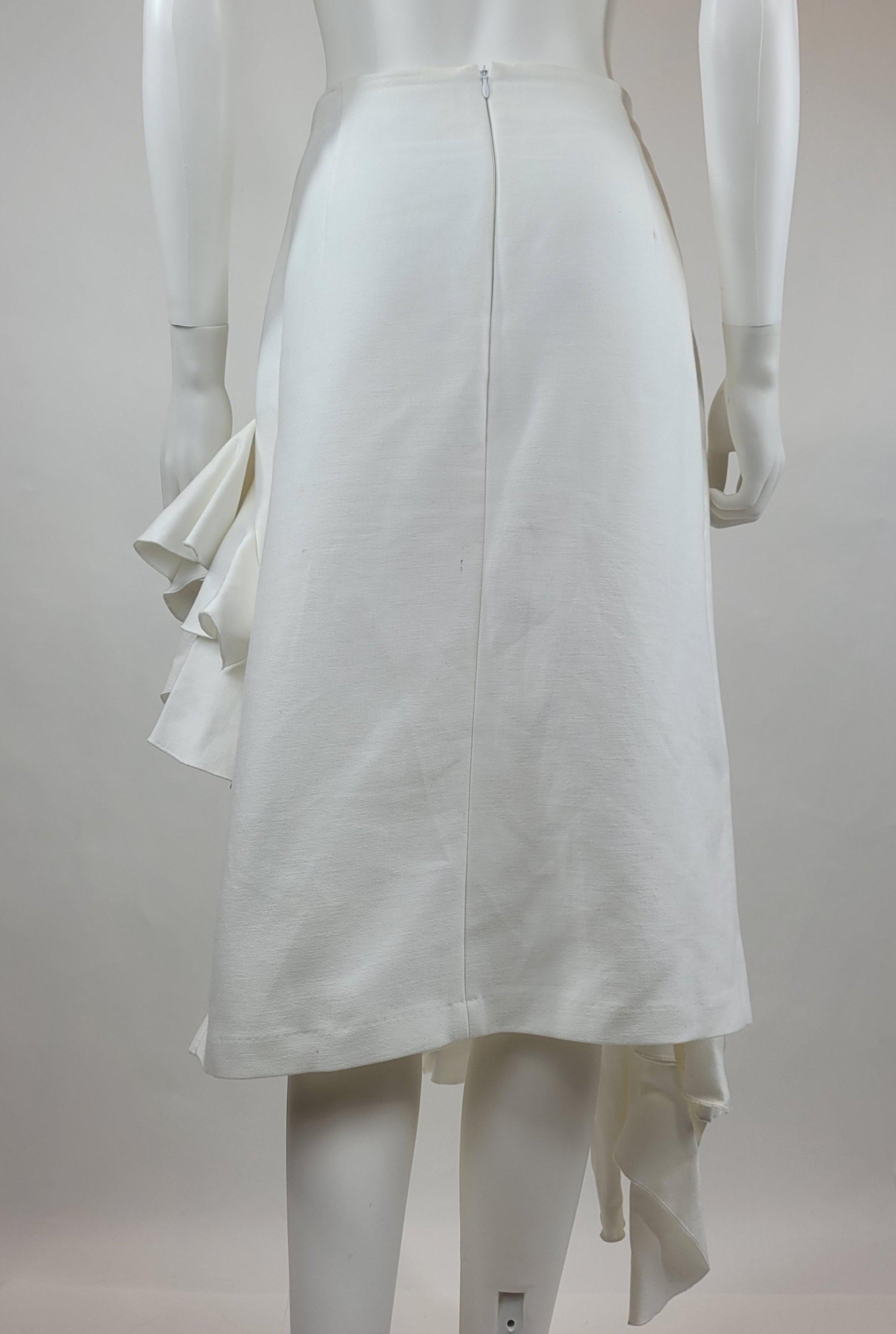 Jacquemus White Asymmetrical Skirt
