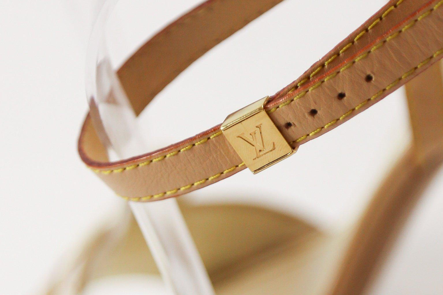 Louis Vuitton Monogram Applique Sandals