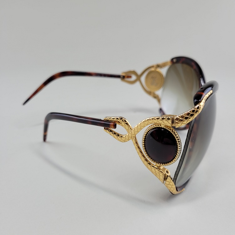 Roberto Cavalli Sunglasses Gold side frame jewel