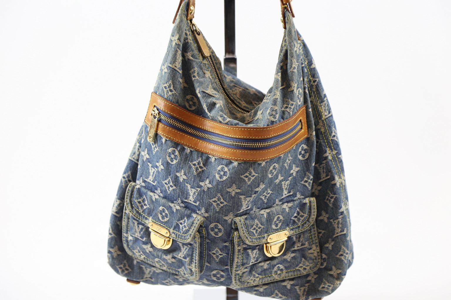Louis Vuitton Baggy Handbag Denim GM