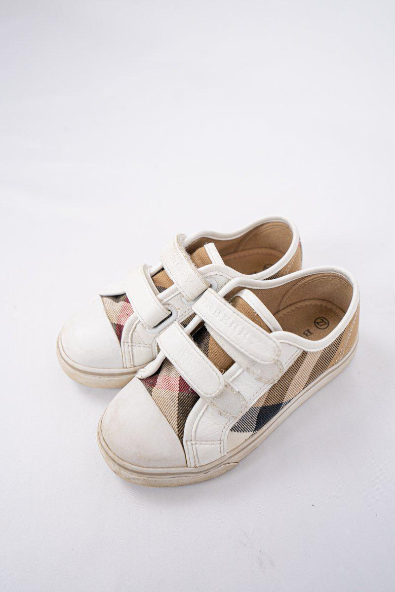 Burberry Nova Check Velcro Sneakers
