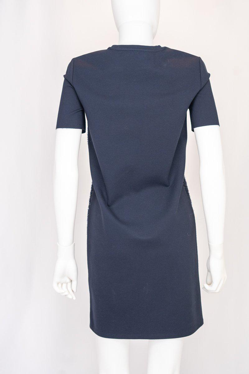 Tory Burch Navy Metallic Shift Dress
