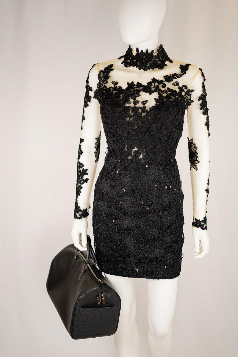 JANIQUE by Kourosh Babaian Black Mini Dress