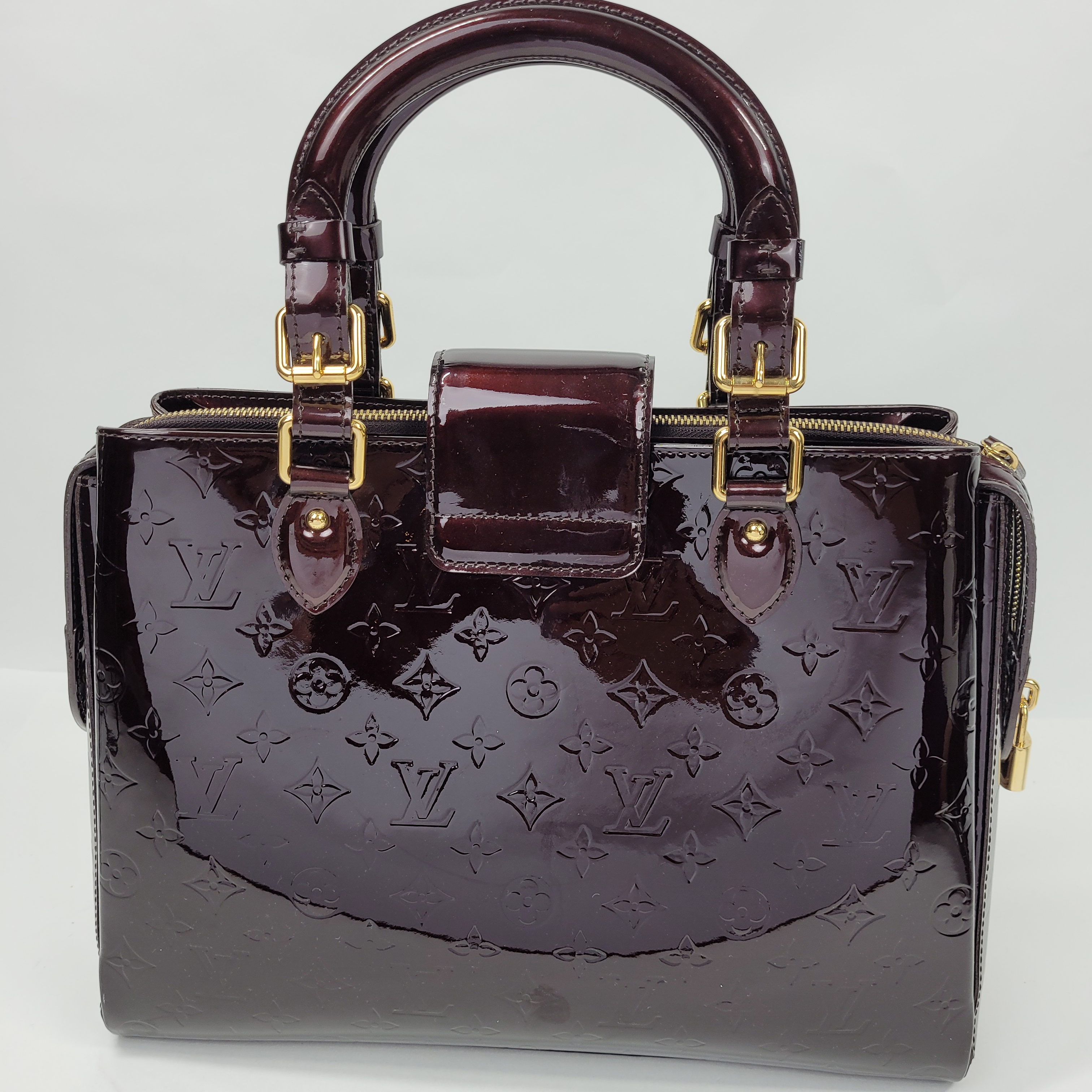 Louis Vuitton Amarante Monogram Vernis Melrose Avenue Bag In Burgundy