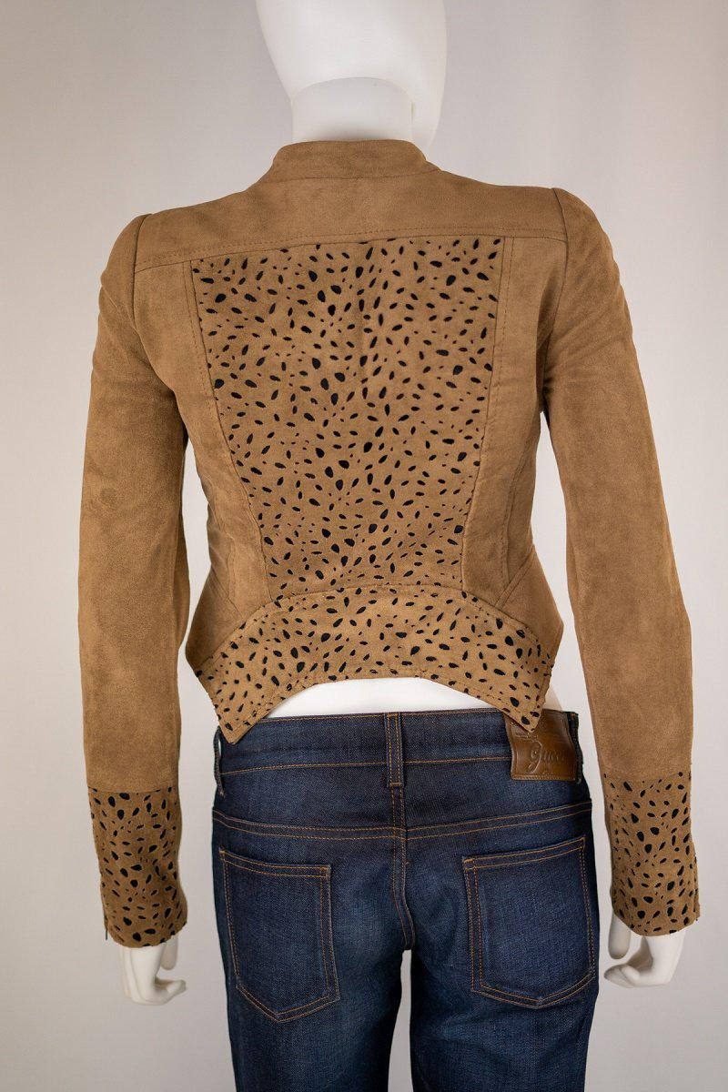 BCBG Faux Suede Perforated Jacket