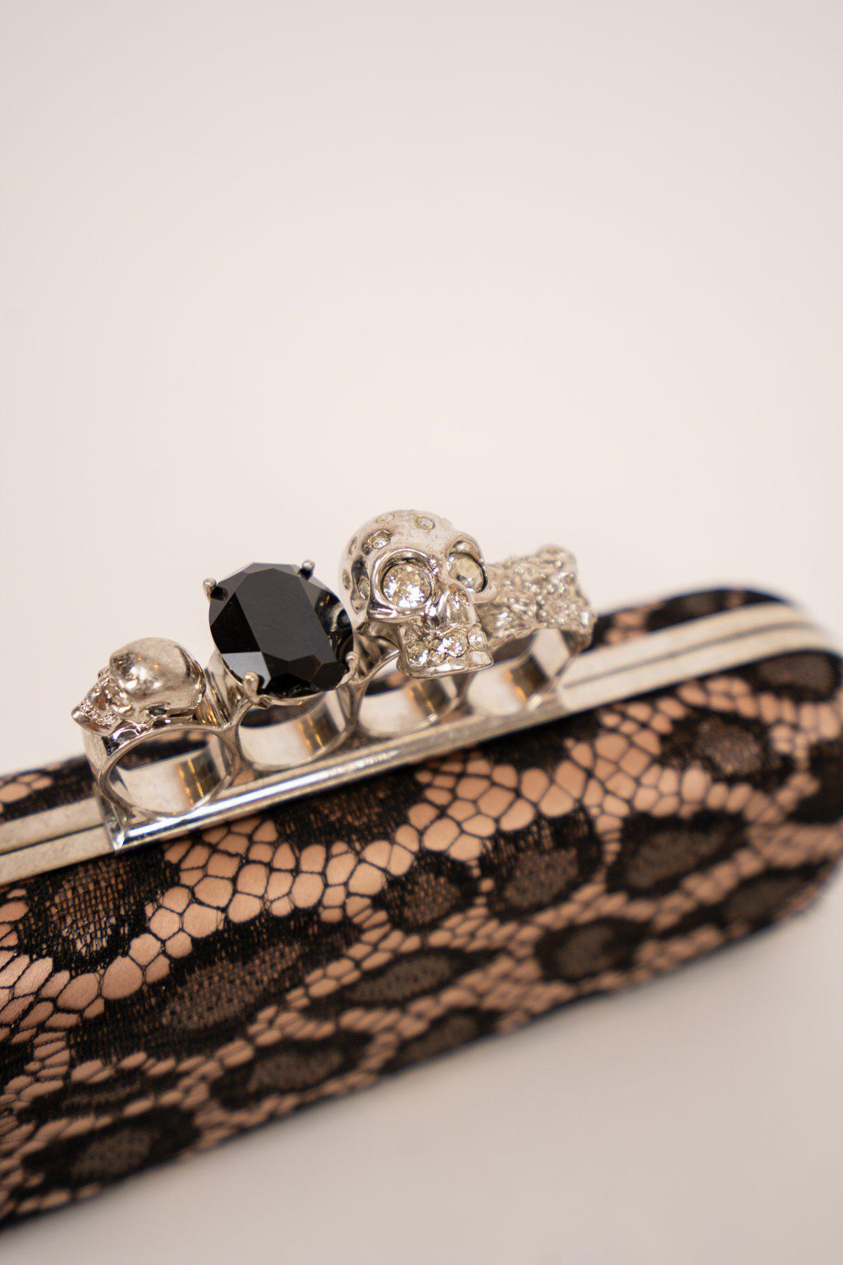 Alexander McQueen Lace Knuckle Duster Clutch