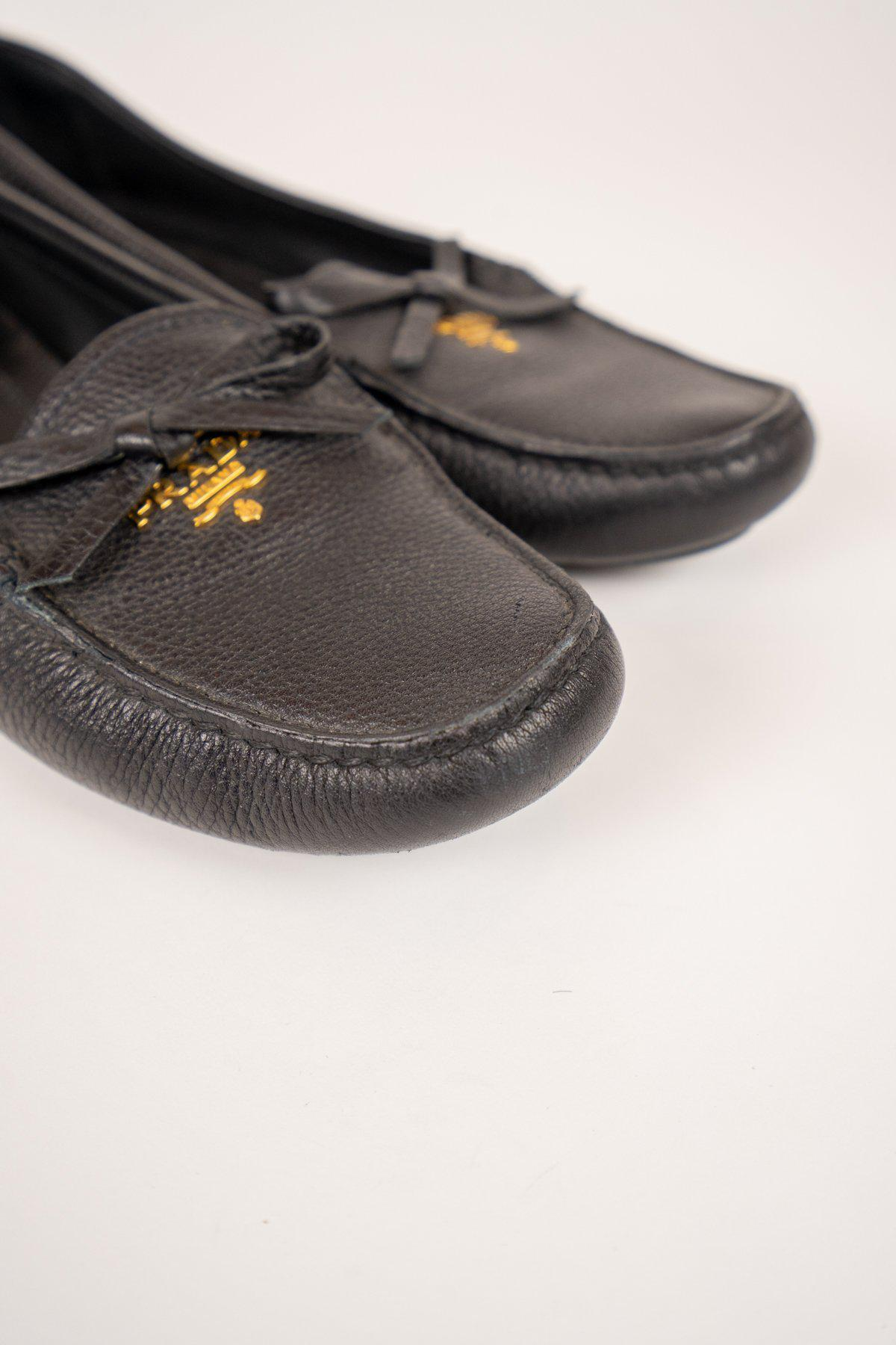 Tory Burch Black Patent Loafers