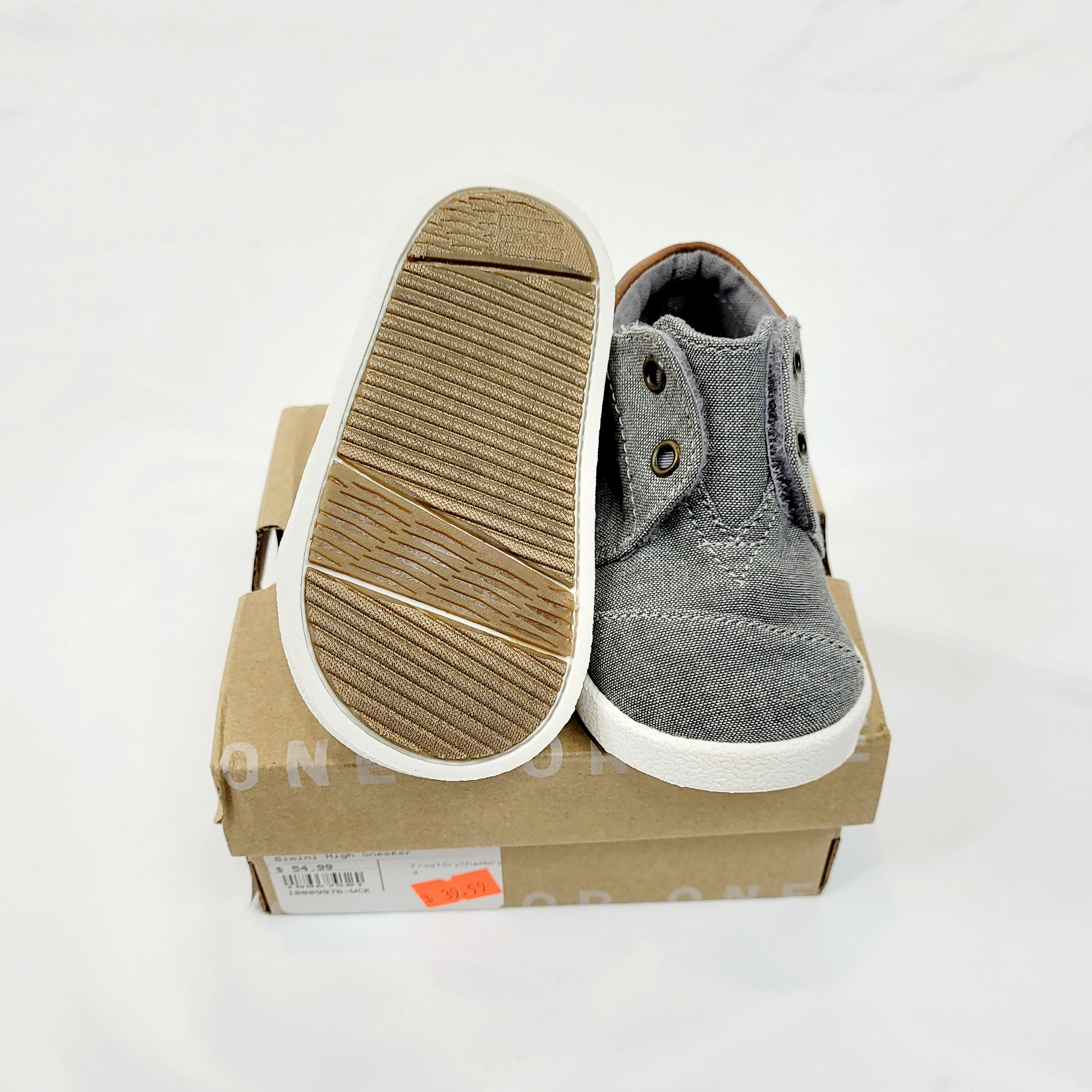 Tom's Bimini High Sneakers in Frost Grey/Chambray