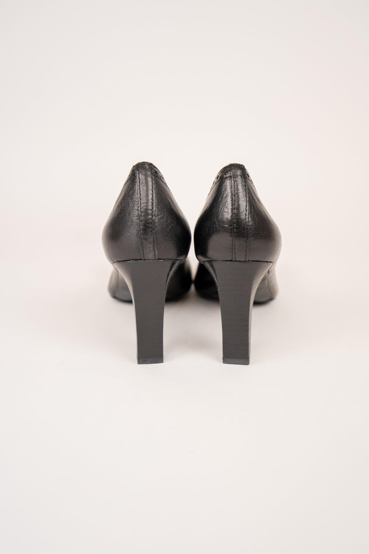 Franco Sarto Black Leather Stiletto