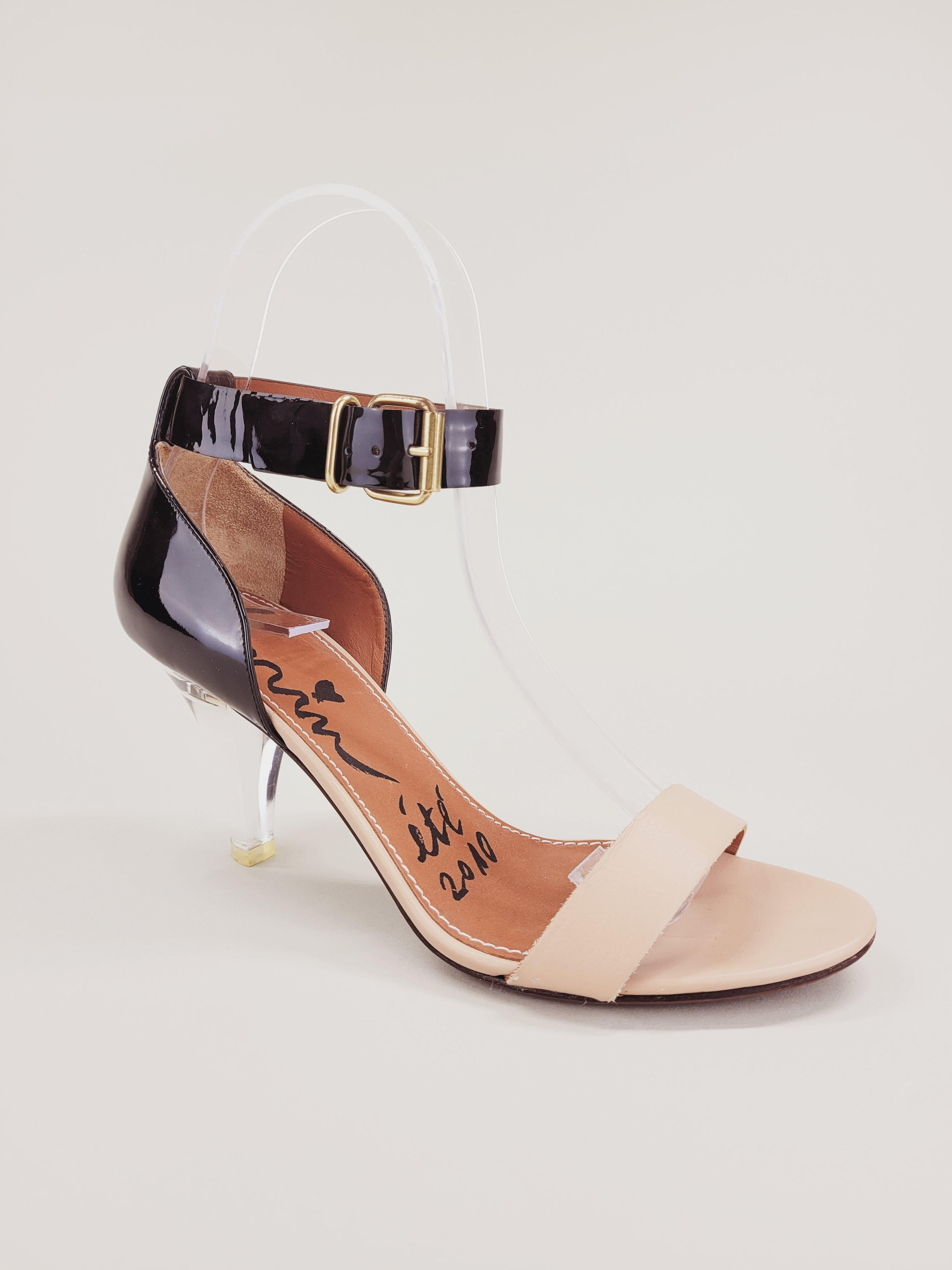 Lanvin Two Toned Lucite Heel Sandals