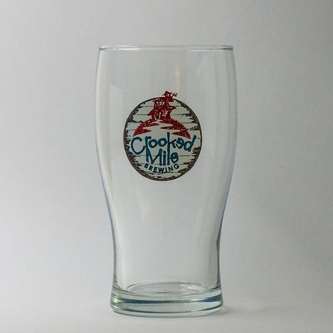 Crooked Mile Glass - 20oz Pub