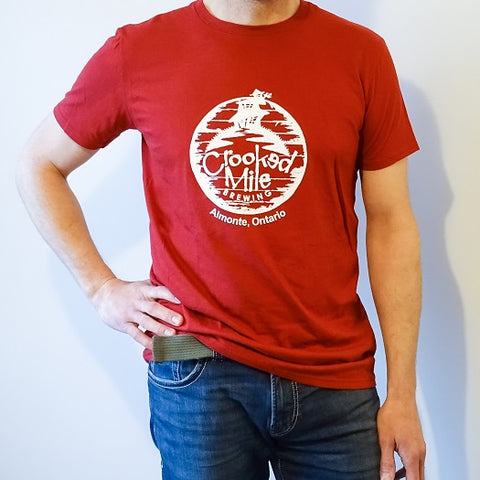 Crooked Mile t-shirt - Mens - Red