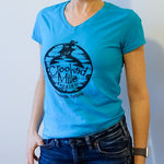 Crooked Mile t-shirt - Womens - Blue
