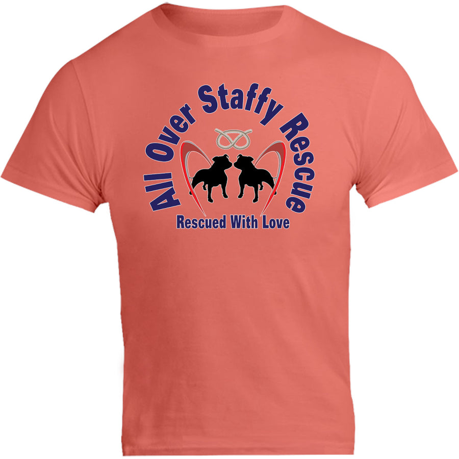 All Over Staffy Rescue - Unisex Tee - Graphic Tees Australia