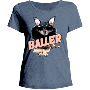Baller - Ladies Relaxed Fit Tee - Graphic Tees Australia