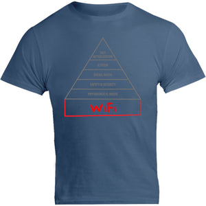 Basic Human Needs Pyramid - Unisex Tee - Graphic Tees Australia