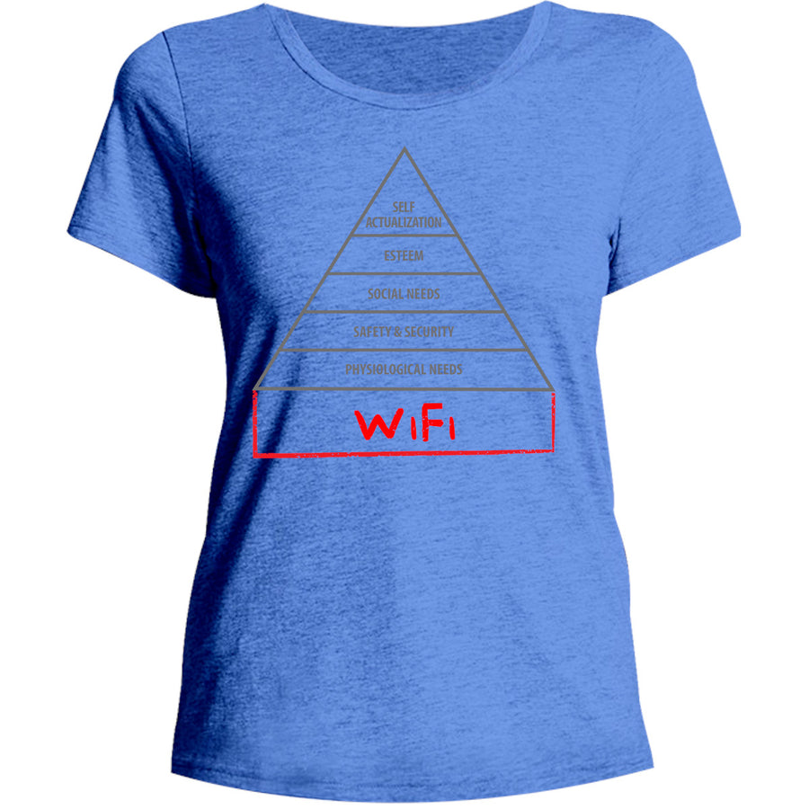 Basic Human Needs Pyramid - Ladies Relaxed Fit Tee - Graphic Tees Australia