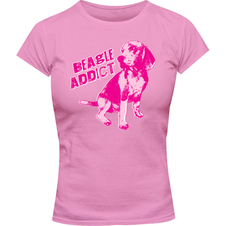 Beagle Addict - Ladies Slim Fit Tee - Graphic Tees Australia