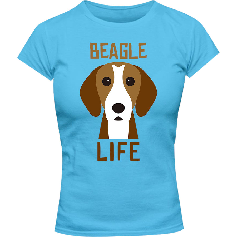 Beagle Life - Ladies Slim Fit Tee - Graphic Tees Australia