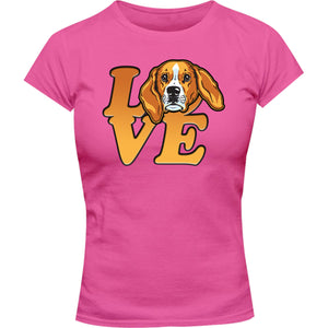 Beagle Love - Ladies Slim Fit Tee - Graphic Tees Australia