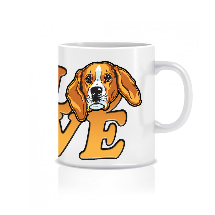 Beagle Love - Ceramic Mug - Graphic Tees Australia