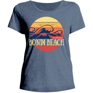 Bondi Circle Wave - Ladies Relaxed Fit Tee - Graphic Tees Australia