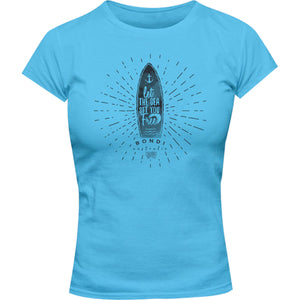 Bondi Let The Sea - Ladies Slim Fit Tee - Graphic Tees Australia