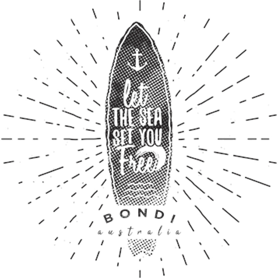 Bondi Let The Sea - Ladies Relaxed Fit Tee - Graphic Tees Australia