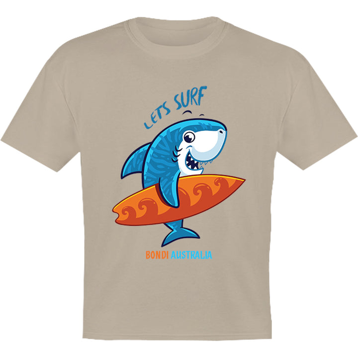 Bondi Lets Surf - Youth & Infant Tee - Graphic Tees Australia