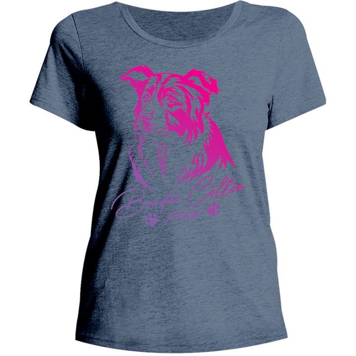 Border Collie XOXO - Ladies Relaxed Fit Tee - Graphic Tees Australia