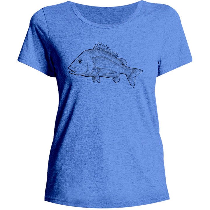 Bream - Ladies Relaxed Fit Tee - Graphic Tees Australia
