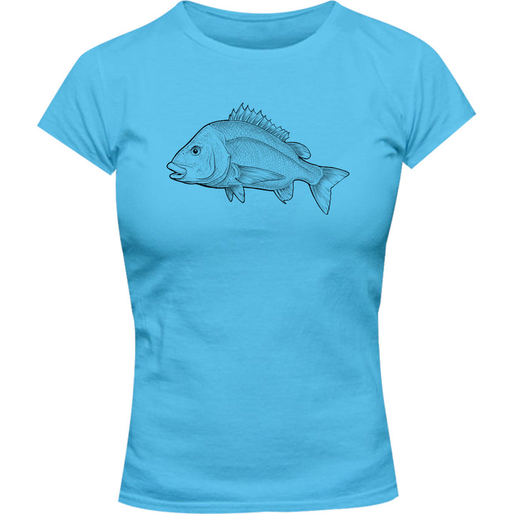Bream - Ladies Slim Fit Tee - Graphic Tees Australia