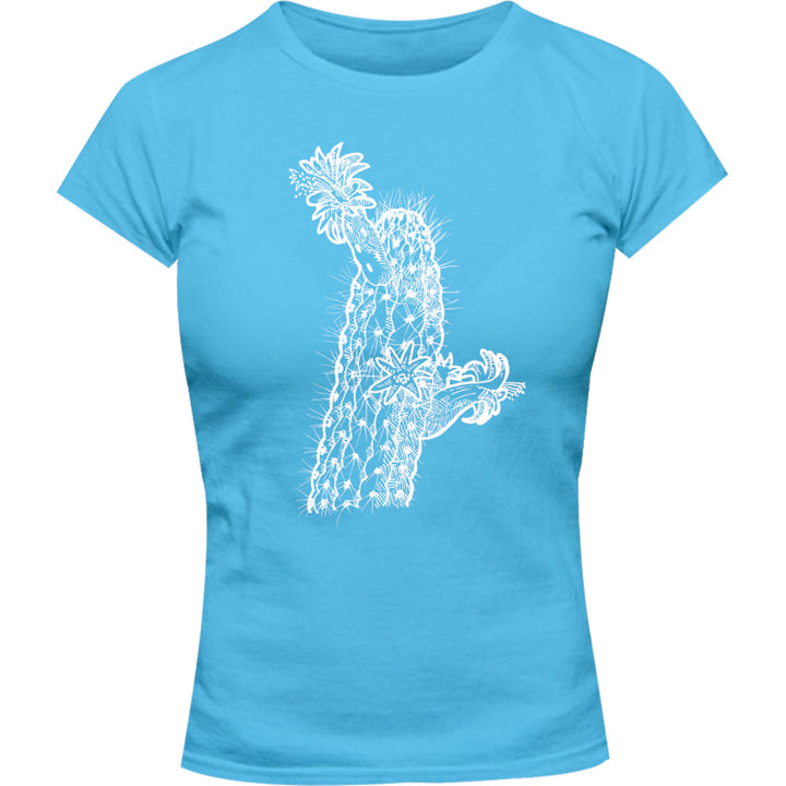 Cactus - Ladies Slim Fit Tee - Graphic Tees Australia