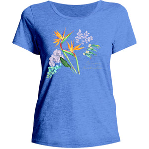 Cairns Australia Floral - Ladies Relaxed Fit Tee - Graphic Tees Australia